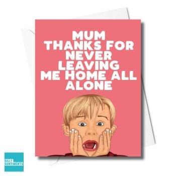THANKS HOME ALONE CARD  -XFS0327