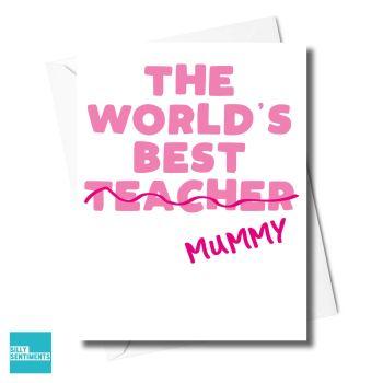 MUM TEACHER CARD  -XFS0328