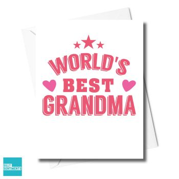 STAR WORLD'S BEST GRANDMA CARD - XFS0331