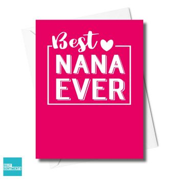NANA IS THE BEST CARD - XFS0332