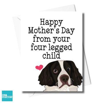 DOG FOUR LEGGED CHILD CARD - FXFS0345