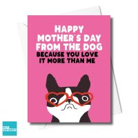 DOG LOVE IT MORE THAN ME CARD - FXFS0351