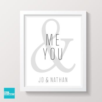 YOU & ME PERSONALISED  PRINT - XPRI019