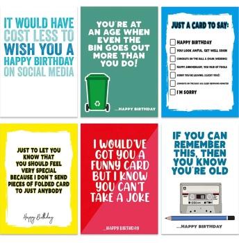 PACK OF 6 SOCIAL BIRTHDAY - E20