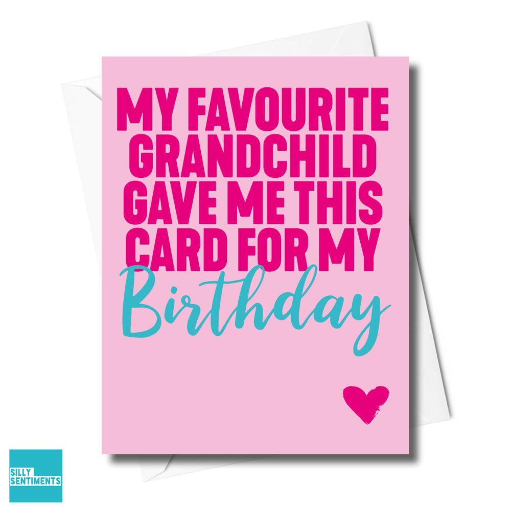 PINK GRANDCHILD CARD - XFS0594