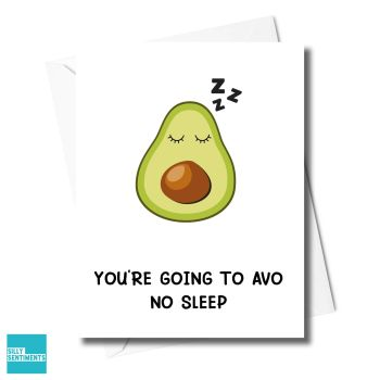 AVO NO SLEEP BABY CARD -  XFS0615