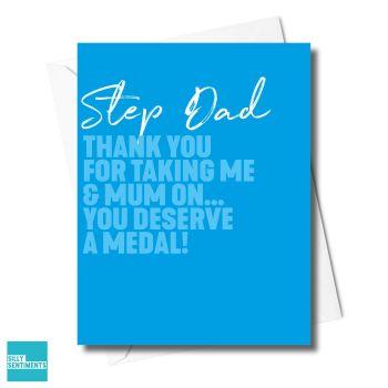 STEP DAD MEDAL CARD XFS0390