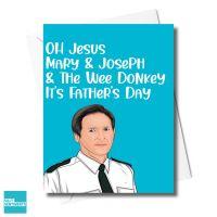 DAD JESUS MARY JOSEPH DONKEY CARD - XFS0702