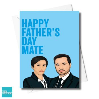 FATHER'S DAY MATE LINE OF DUTY CARD - XFS0695
