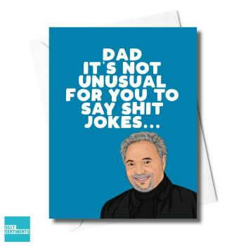 SHIT JOKES TOM JONES DAD CARD - XFS0417