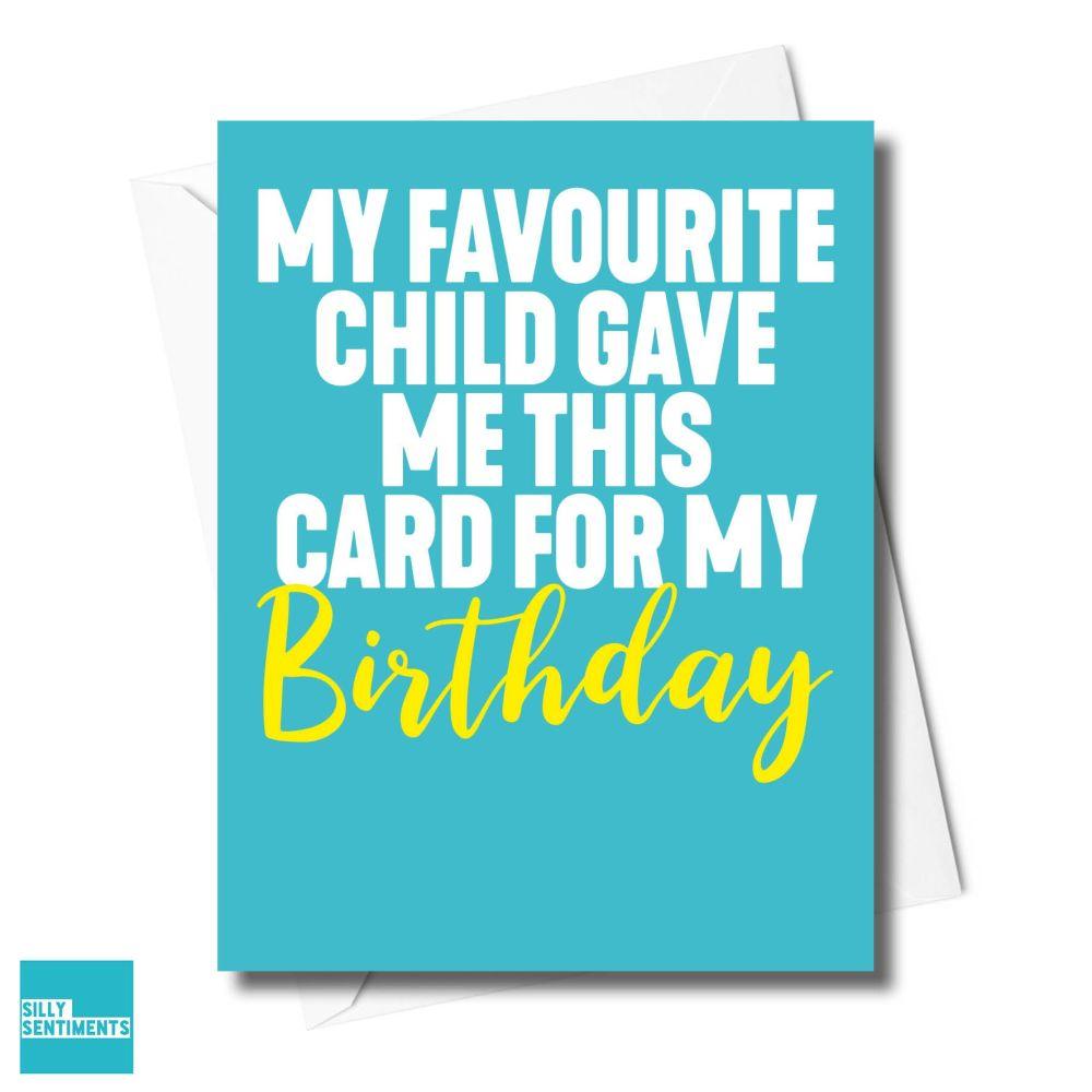 FAVE CHILD BIRTHDAY CARD - XFS0711