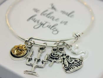 Fairytale Beauty and the Beast Bangle