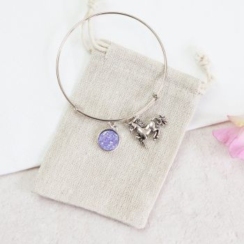 Unicorn Bangle in Linen Pouch