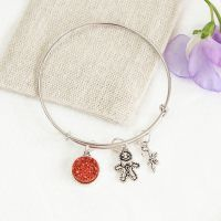 Merry Little Christmas Bangle in Linen Pouch
