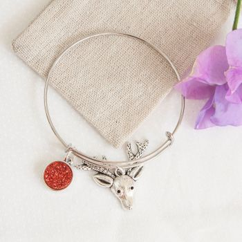 Reindeer Bangle in Linen Pouch