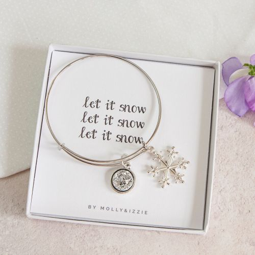 Let it Snow Bangle in Gift Box