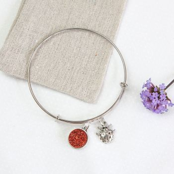 Ladybird Bangle in Linen Pouch