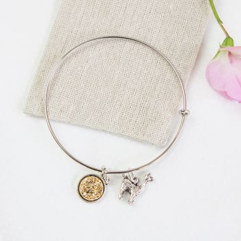 Llama Bangle in Linen Pouch