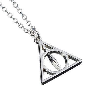 Harry Potter Deathly Hallows Necklace - Silver Plate