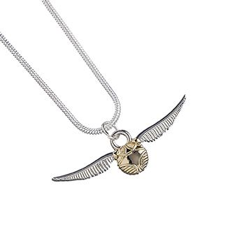 Harry Potter Golden Snitch Necklace - Silver Plate