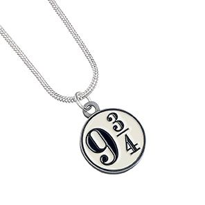 Harry Potter Platform 9 3/4 Necklace - Silver Plate