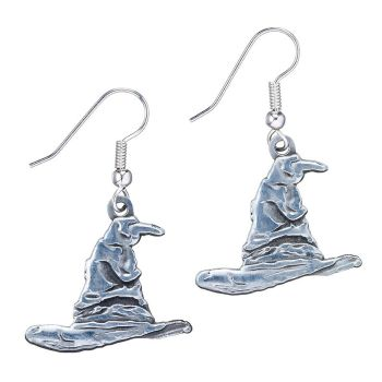 Harry Potter Sorting Hat Earrings - Silver Plate