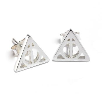 Official Sterling Silver Harry Potter Deathly Hallows Stud Earrings
