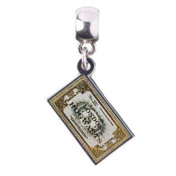 Harry Potter Hogwarts Express Ticket Slider Charm - Silver Plate