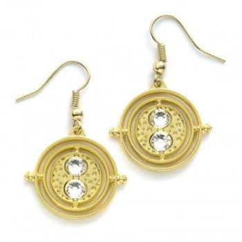 Harry Potter Fixed Time Turner Earrings - Gold Plate