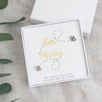 Bee Happy Sterling Silver Earrings
