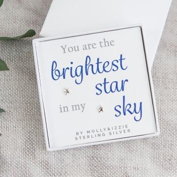 Brightest Star Silver Earrings