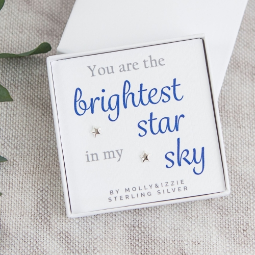 Brightest Star Silver Earrings