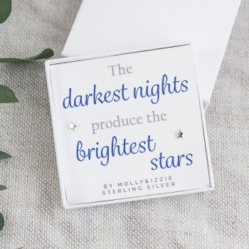 Darkest Nights Silver Earrings