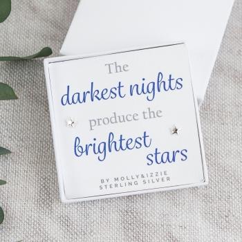 Darkest Nights Silver Earrings