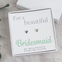 Bridesmaid Sterling Silver Earrings