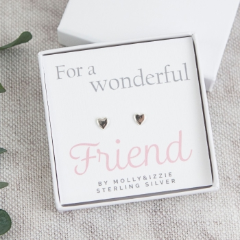 Friend Sterling Silver Earrings