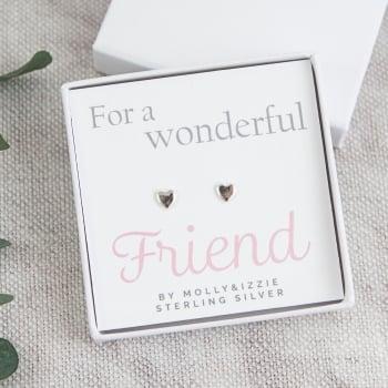 Friend Sterling Silver Earrings