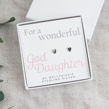 God Daughter Sterling Silver Earrings