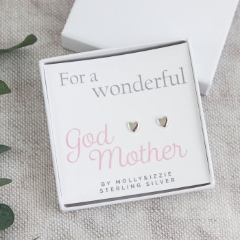 God Mother Sterling Silver Earrings
