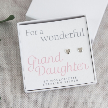 Grand Daughter Sterling Silver Earrings