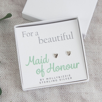 Maid of Honour Sterling Silver Earrings
