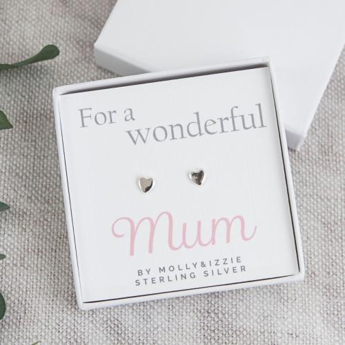 Mum Sterling Silver Earrings