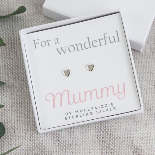 Mummy Sterling Silver Earrings