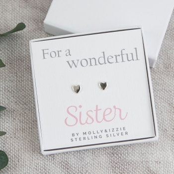 Sister Sterling Silver Earrings