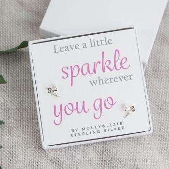 Sparkle Sterling Silver Earrings