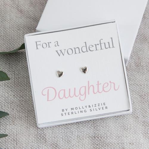 Daughter Sterling Silver Earrings