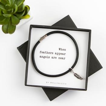When Feathers Appear Bracelet In Gift Box
