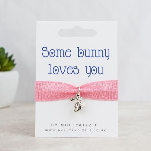 Bunny Loves You Stretch Bracelet - adult size