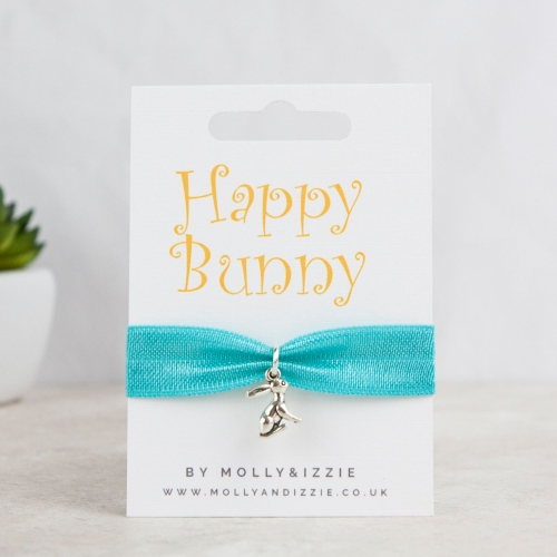 Happy Bunny Stretch Bracelet - adult size