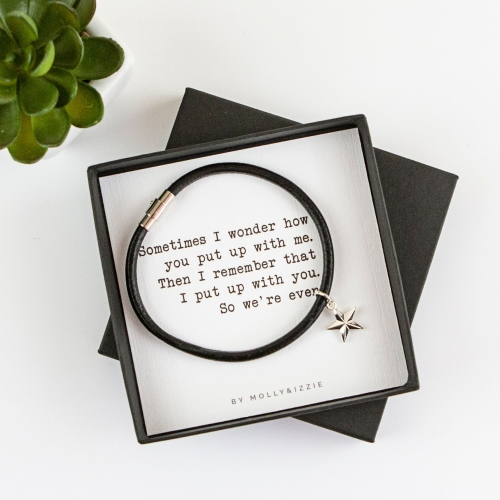 Put Up With Me Bracelet In Gift Box